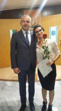 """Награда """"Варна"""" - """"Млад учител на 2018 година""""  за добър старт в професията - ДГ №38 Маргаритка - Варна"""